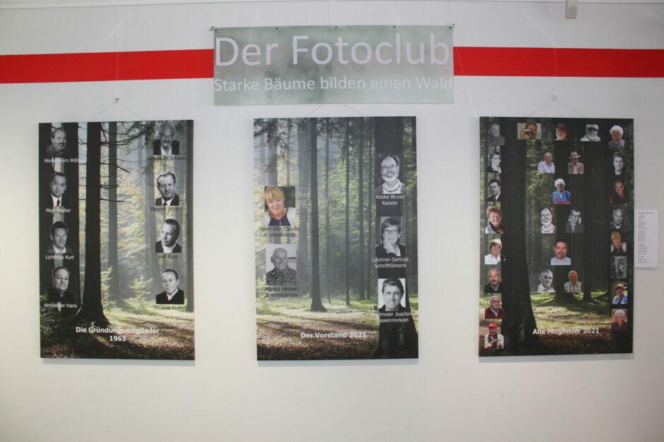 Der Fotoclub – Starke Bäume bilden einen Wald – Ausstellung